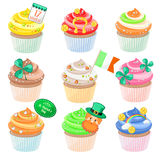 Cupcakes for Saint Patrick's Day Royalty Free Stock Photo