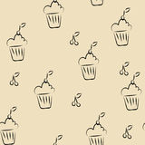 Cupcakes seamless Royalty Free Stock Image