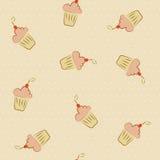 Cupcakes seamless Stock Photo