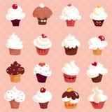 Cupcakes - seamless background Stock Photo