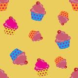 Cupcakes seamless. Cute cupcakes seamless background. Eps10 vector format Stock Photos