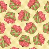 Cupcakes Seamless Pattern royalty free illustration