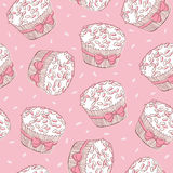 Cupcakes seamless pattern Royalty Free Stock Photography