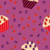 Cupcakes seamless pattern Stock Image