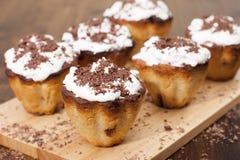 Cupcakes semolina with raisins Stock Photo