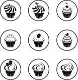 Cupcakes set Royalty Free Stock Photos