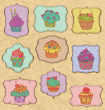 Cupcakes Set Stock Photography