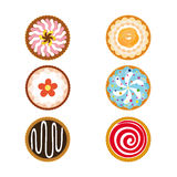 Cupcakes set icons Stock Photo