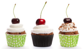 Cupcakes set Stock Images