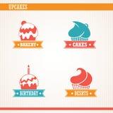 Cupcakes set. Royalty Free Stock Image
