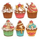 Cupcakes set Stock Photos