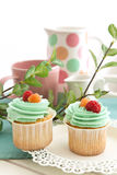 Cupcakes. Small cake intended for consumption by one person royalty free stock photo