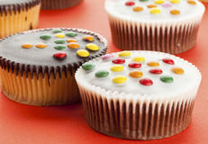 Cupcakes with smarties Stock Image