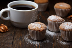 Cupcakes sprinkle with sugar Royalty Free Stock Photo