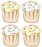 Cupcakes With Sprinkles Stock Photo