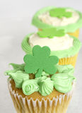 Cupcakes for St. Patrick's day Royalty Free Stock Images