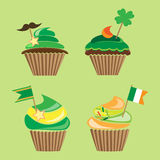 Cupcakes for st.patrick`s day Royalty Free Stock Photography