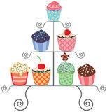 Cupcakes on a stand Stock Image