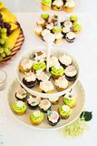 Cupcakes on stand Royalty Free Stock Photo