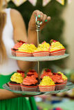 Cupcakes on a stand Royalty Free Stock Photo