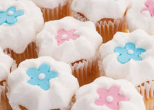 Cupcakes with stars or flowers Stock Photography