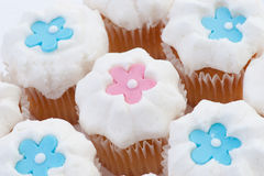 Cupcakes with stars or flowers Royalty Free Stock Photography