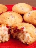 Cupcakes with strawberry jam Stock Photos