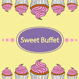 Cupcakes, sweet buffet Royalty Free Stock Photo