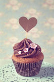 Cupcakes with sweet  flowers Stock Image