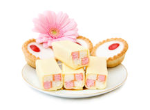 Cupcakes and sweets stock photography