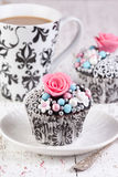 Cupcakes with tea Royalty Free Stock Photo