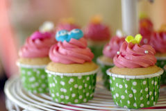 Cupcakes tier. Cute and colorful yummy cupcakes tier Royalty Free Stock Image