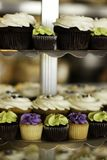 Cupcakes on a Tray. Fancy cupcakes all decorated for a party Royalty Free Stock Image