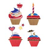 Cupcakes for United Kingdom party Stock Photography
