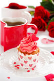Cupcakes for Valentine's Day Royalty Free Stock Photo