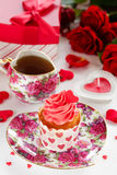 Cupcakes for Valentine's Day Royalty Free Stock Photos
