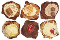 Cupcakes van hierboven Stock Fotografie