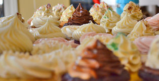 Cupcakes. A variety of cupcakes with sprinkles stock photography