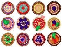 Cupcakes. Vector illustration. Beautiful, sweet dessert design Royalty Free Stock Photo