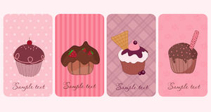 Cupcakes_vertical_banners Stock Images