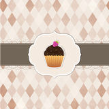 Cupcakes Vintage Labels Stock Photography