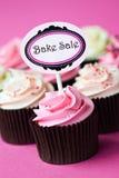 Cupcakes voor bakt verkoop royalty-vrije stock afbeeldingen