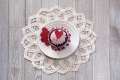 Cupcakes voor de Dag van Valentine ` s Royalty-vrije Stock Afbeeldingen