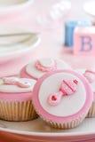 Cupcakes voor een babydouche Royalty-vrije Stock Foto's