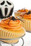 Cupcakes voor Halloween stock afbeelding