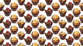Cupcakes wallpaper pattern repeat Stock Photography
