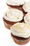 Cupcakes with whipped cream Royalty Free Stock Photos