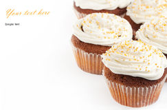 Cupcakes with whipped cream Stock Image