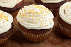 Cupcakes with whipped cream Stock Photography