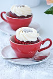 Cupcakes with whipped cream stock photo